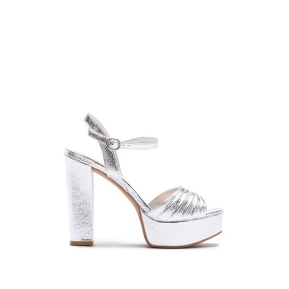 af3c01e6bf Chinese Laundry Shoes | Allie Metallic Silver Platform Sandals ...